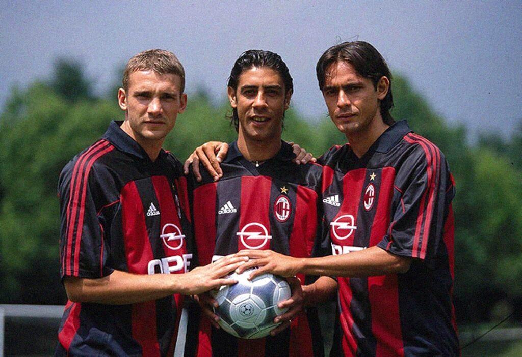 Shevchenko, Rui Costa, Inzaghi Milan
