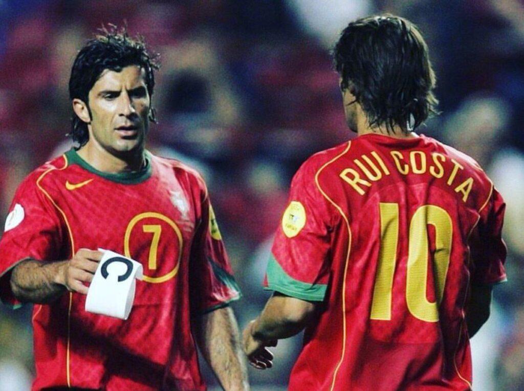 Figo e Rui Costa