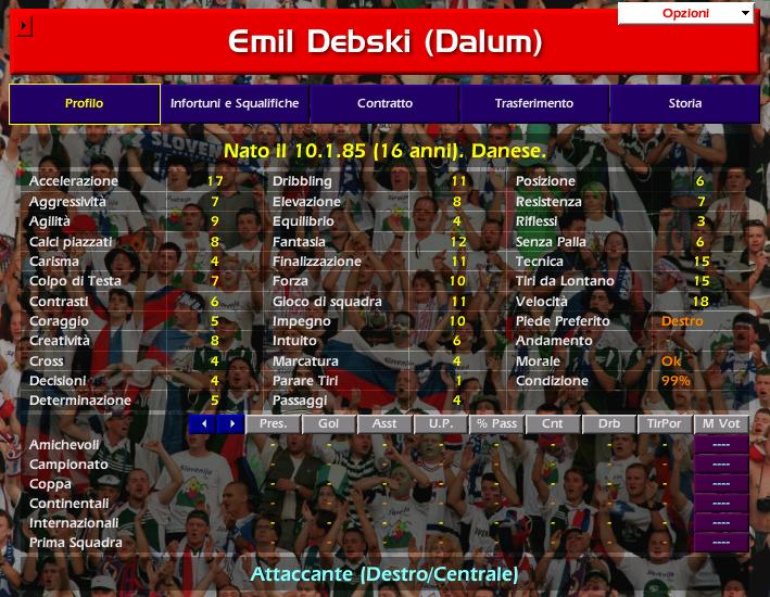 Emil DEBSKI Championship Manager