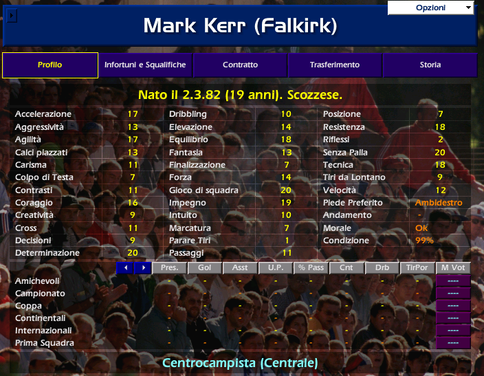 Mark KERR Championship Manager