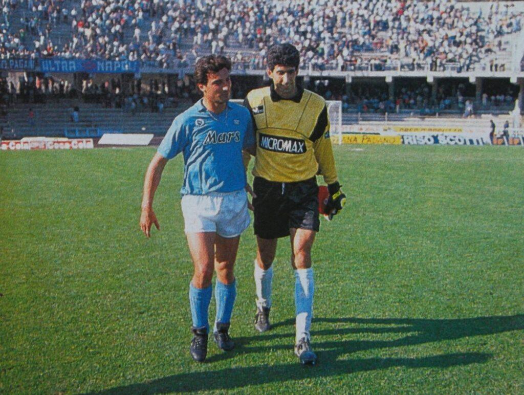 Di Fusco in una stagione successiva allo Scudetto con il Napoli