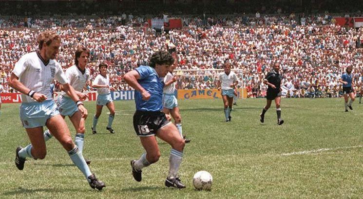 il gol più bello è quello di Maradona contro l'Inghilterra